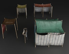 HOMELESS AND SLUM HOUSE TENT OLD 3D asset