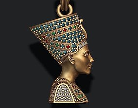 Nefertiti pendant with gems 3D printable model