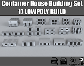 3D model Container House Buildings Collection