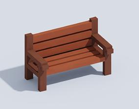 Voxel Bench 3D model