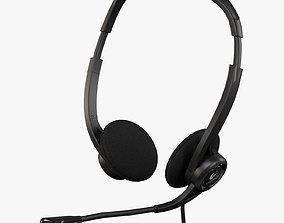 3D asset Logitech PC Headset 960 USB