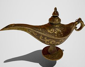 vintage the Genie lamp PBR low poly 3D asset