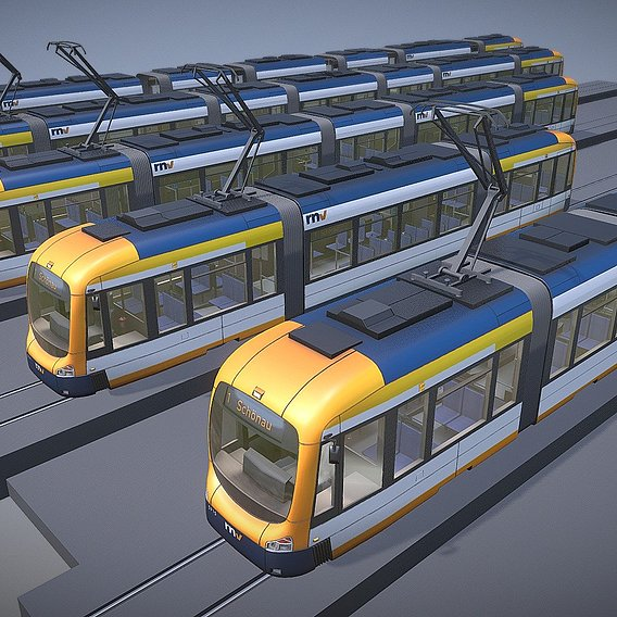 Tram (Low-Poly)