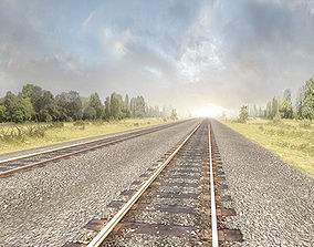 Railway Tracks Pack 3D model