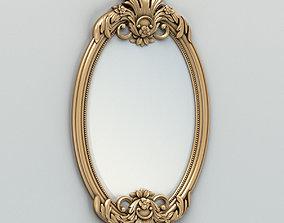 3D Oval mirror frame 002
