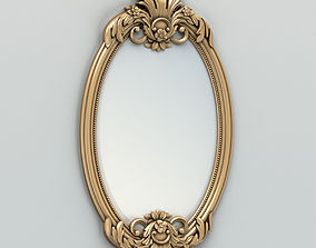 3D model Oval mirror frame 002