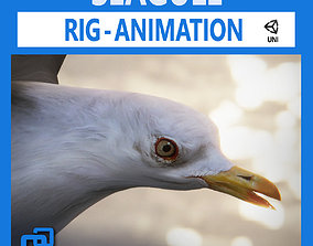 3D asset Animated Seagull Untiy