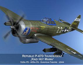 3D model Republic P-47D Thunderbolt - Raid Hot Mama