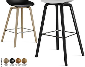 Hay - About A Stool Barstool and Counter Stool 3D model 1