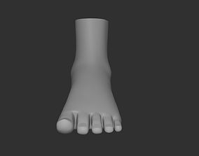 Female Foot 3D model low-poly