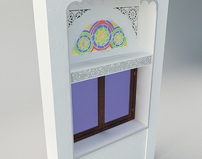 3D asset Qamaria stained glasses and Yemeni classic window