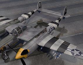 3D model Lockheed P-38J Lightning