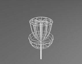3D model Disc golf basket frisbee
