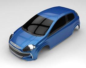 3D model Fiat Punto Evo body replica