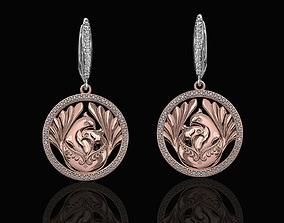The loving doves earrings 3D print model