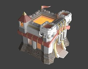 3D asset VR / AR ready Town Hall Level 11 Clash of Clans