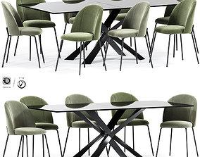 Cloyd Dining Table Chair 3D model