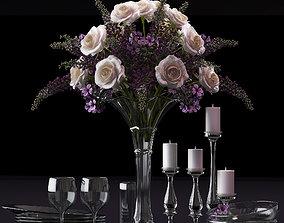 Flower Vase Set 3D model