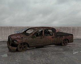 destroyed car 008 am165 3D model