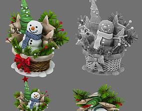 3D model christmas decor various
