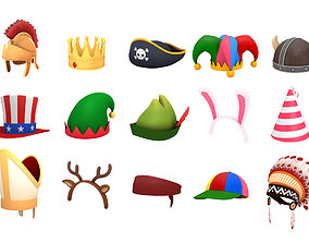 archer Hats and Helmet Pack 2 3D