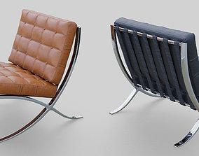 comfort 3D asset game-ready Barcelona Chair