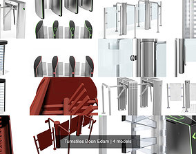 Turnstiles Boon Edam 3D model