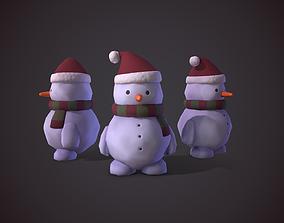 3D asset Snowman Christmas