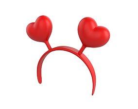 3D Heart Headband