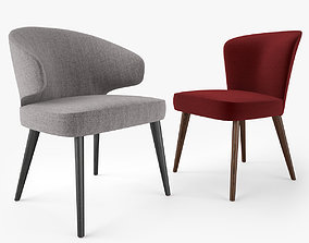 3D model Minotti Aston Dining Chair and Armchair