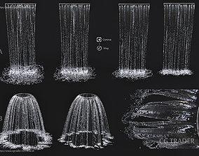 3D Wall Fountains cascade