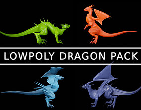 3D model Lowpoly Dragon Pack