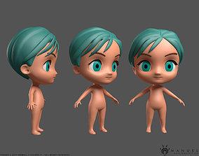 Cute Chibi Character 3D model