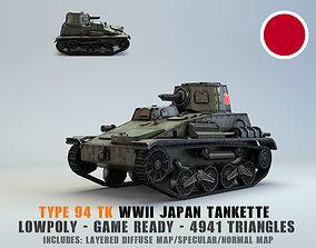 Low Poly Type 94 TK tankette 3D asset