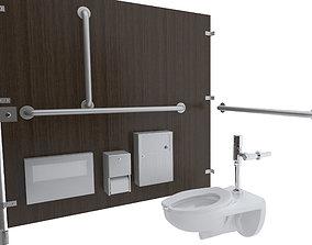 3D Toilet Stall-001B