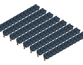 Parametric Audience Seating Array - Revit Family 3D model