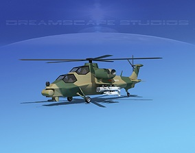WZ-10 Attack Helicopter V03 3D asset