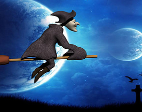 3D Wicked Witch rigged