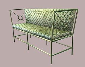 Wrought Iron Sofa 3D asset