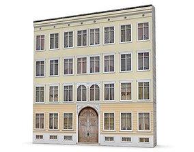 3D Four Story Building Facade
