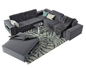 BoConcept Hampton Corner Sofa in Fabric 3D