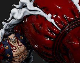 3D printable model One Piece - Luffy Gear 4 figura