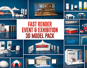 Fast Render Event and Exhibition 3d Model Pack 2018