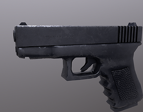 3D model low-poly Glock game
