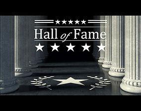 3D Hall of Fame scene