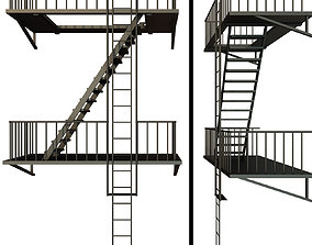 3D Fire escape