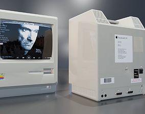 3D Apple Macintosh 1984 classic computer