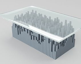 3D Glass PVC Table