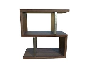 Modern End Table 3D model game-ready