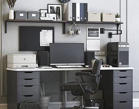 3D model Office workplace 5